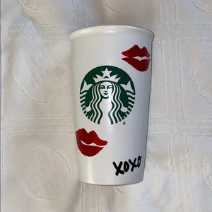 Starbucks Valentines Kiss Ceramic Tumbler